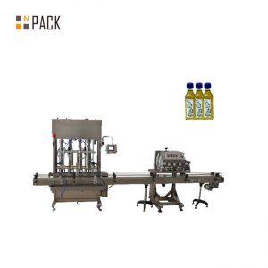 Avtomatik 1-5L pistonlu şüşə qab lube motor yağı maye doldurma maşını